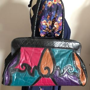 90s Patchwork Leather Hobo Crossbody Aruba Bag